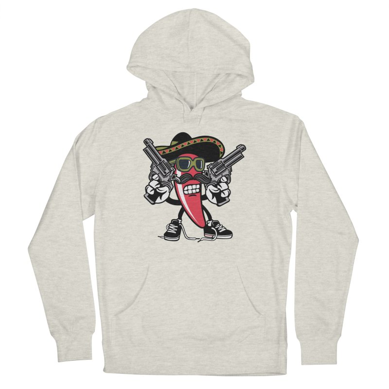 Hot and Spicy Men's French Terry Pullover Hoody by WackyToonz