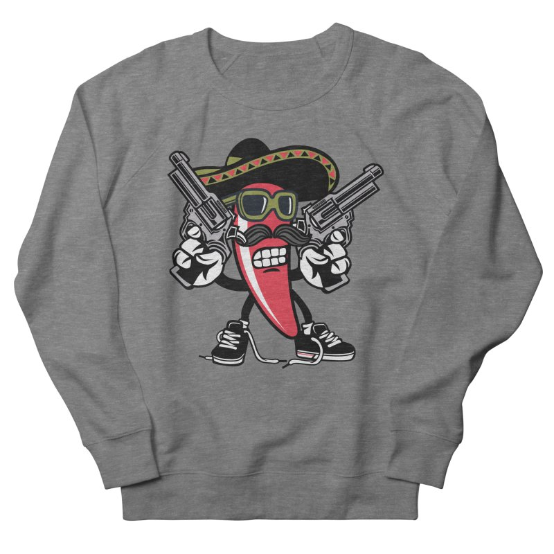 Hot and Spicy Women's French Terry Sweatshirt by WackyToonz