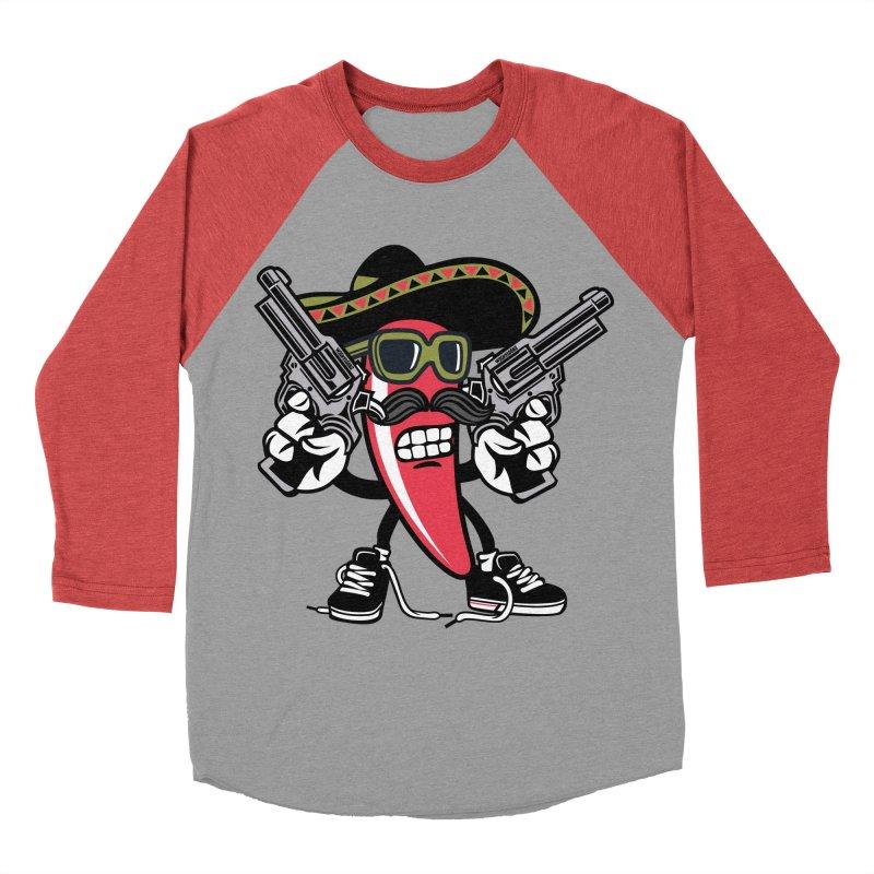 Hot and Spicy Women's Baseball Triblend Longsleeve T-Shirt by WackyToonz