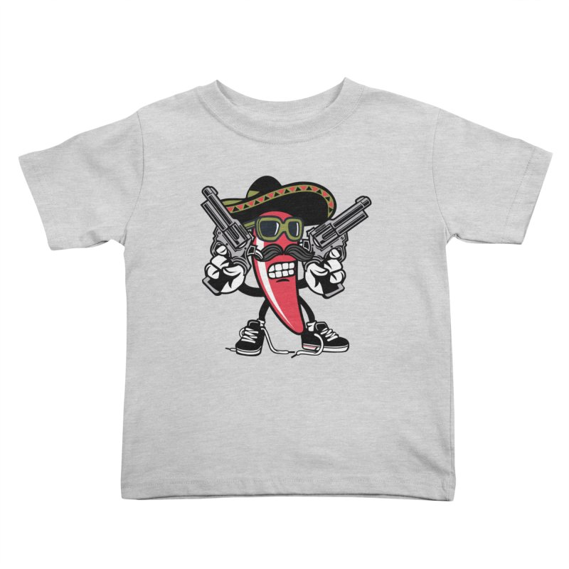 Hot and Spicy Kids Toddler T-Shirt by WackyToonz