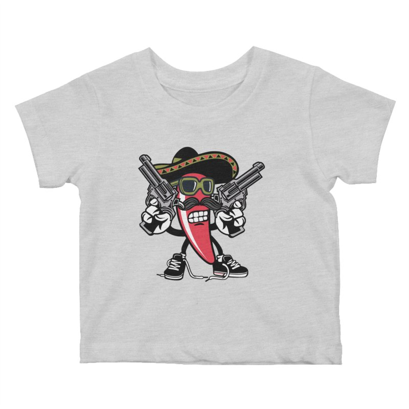 Hot and Spicy Kids Baby T-Shirt by WackyToonz