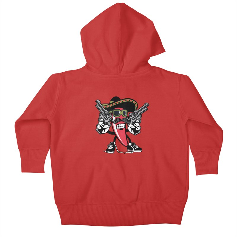 Hot and Spicy Kids Baby Zip-Up Hoody by WackyToonz