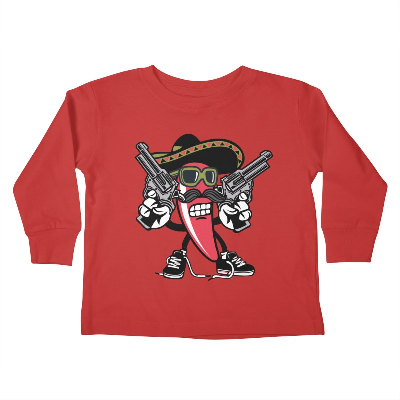 Hot and Spicy Kids Toddler Longsleeve T-Shirt by WackyToonz
