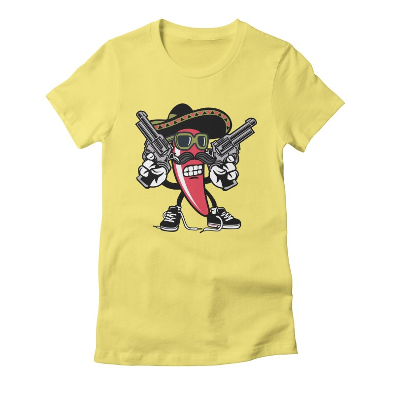 Hot and Spicy Women's Fitted T-Shirt by WackyToonz