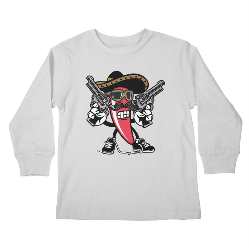 Hot and Spicy Kids Longsleeve T-Shirt by WackyToonz