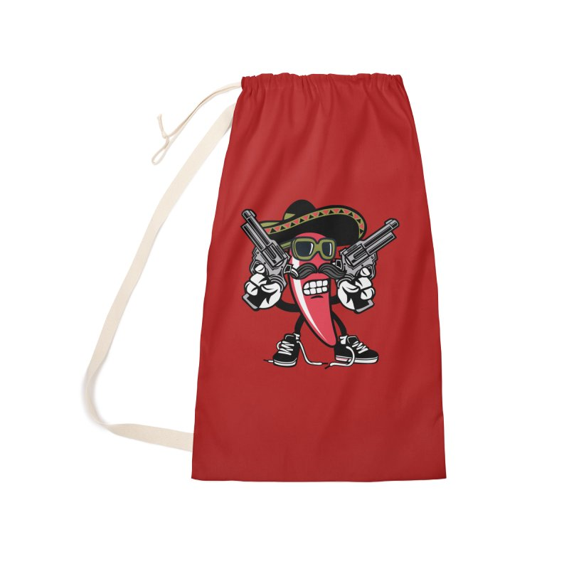 Hot and Spicy Accessories Laundry Bag Bag by WackyToonz