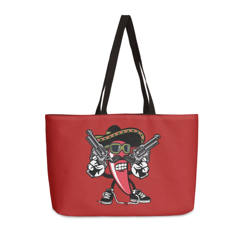 Hot and Spicy Accessories Weekender Bag Bag by WackyToonz