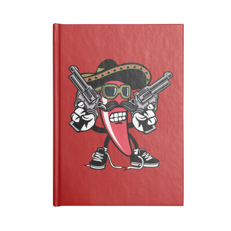 Hot and Spicy Accessories Blank Journal Notebook by WackyToonz