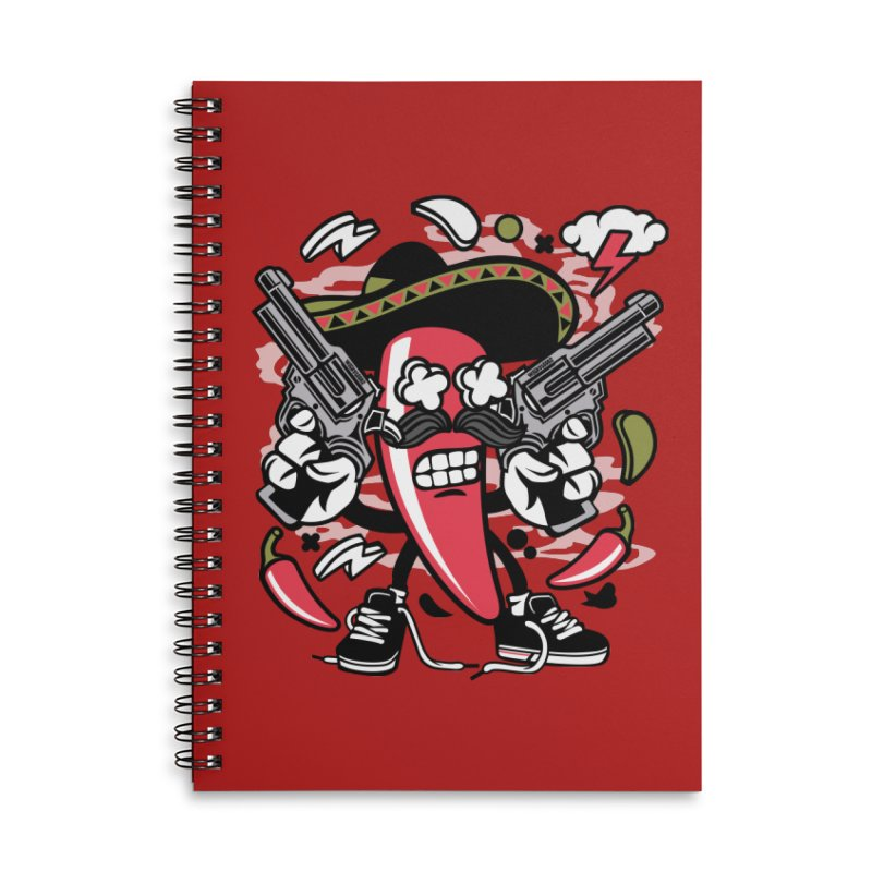 Hot and Spicy Accessories Lined Spiral Notebook by WackyToonz