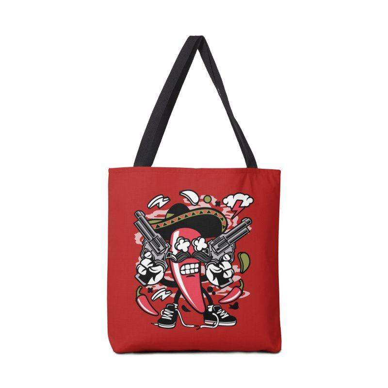 Hot and Spicy Accessories Tote Bag Bag by WackyToonz