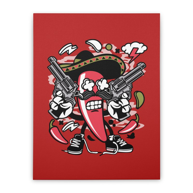 Hot and Spicy Home Stretched Canvas by WackyToonz