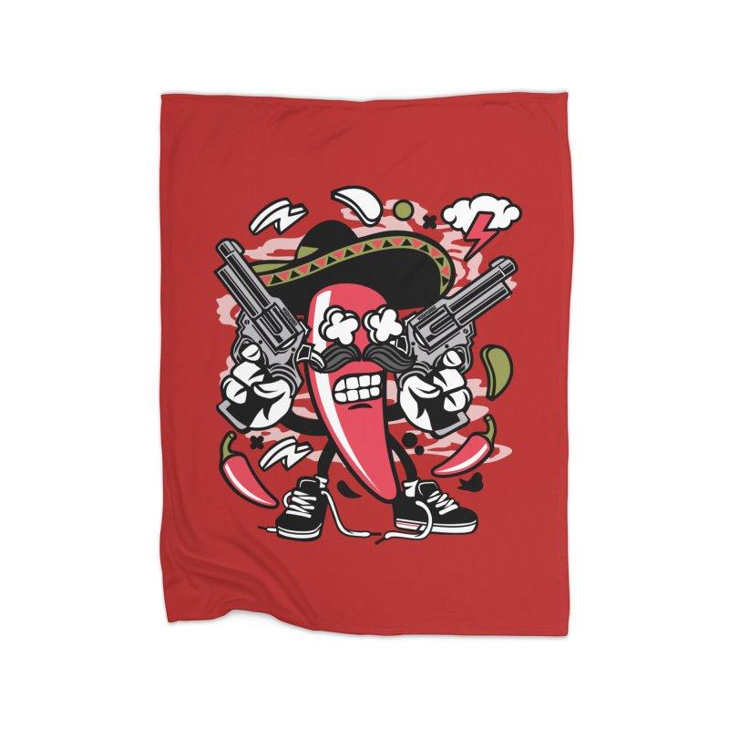 Hot and Spicy Home Fleece Blanket Blanket by WackyToonz