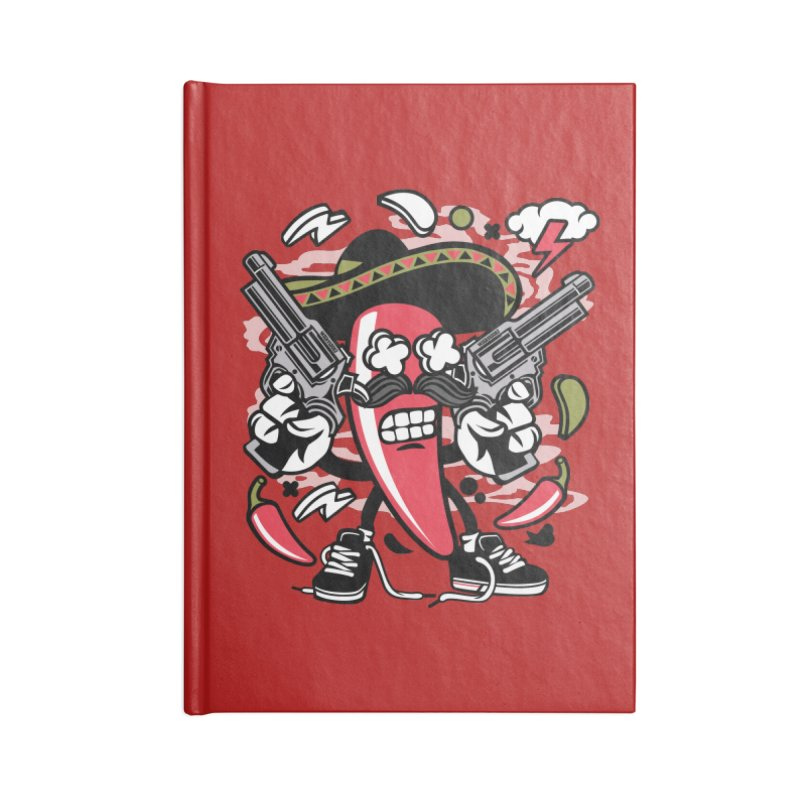 Hot and Spicy Accessories Lined Journal Notebook by WackyToonz