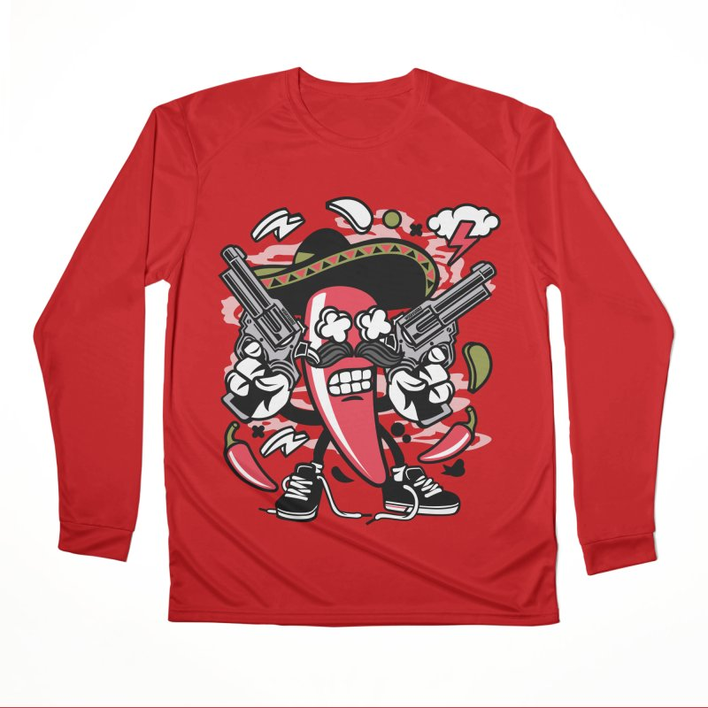 Hot and Spicy Men's Performance Longsleeve T-Shirt by WackyToonz