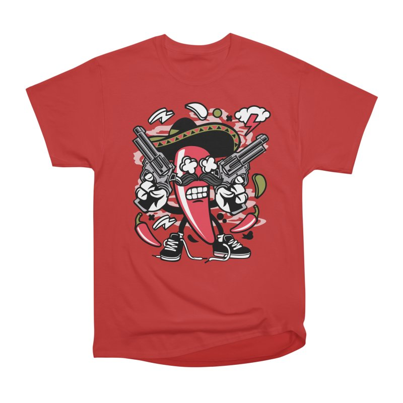 Hot and Spicy Women's Heavyweight Unisex T-Shirt by WackyToonz