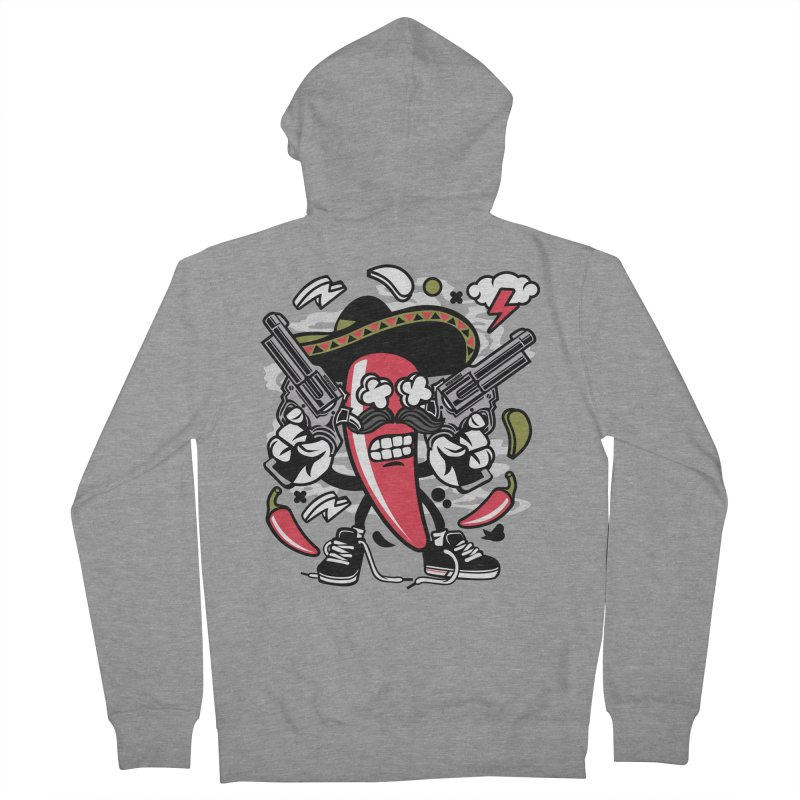 Hot and Spicy Women's French Terry Zip-Up Hoody by WackyToonz