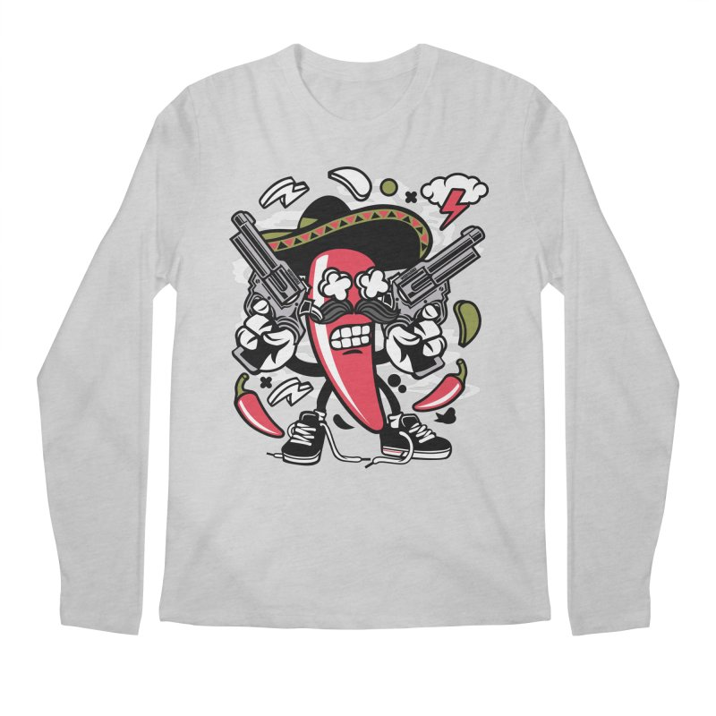 Hot and Spicy Men's Regular Longsleeve T-Shirt by WackyToonz