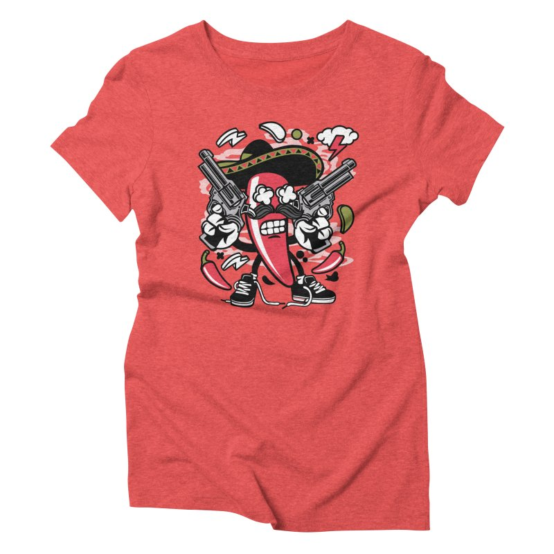 Hot and Spicy Women's Triblend T-Shirt by WackyToonz
