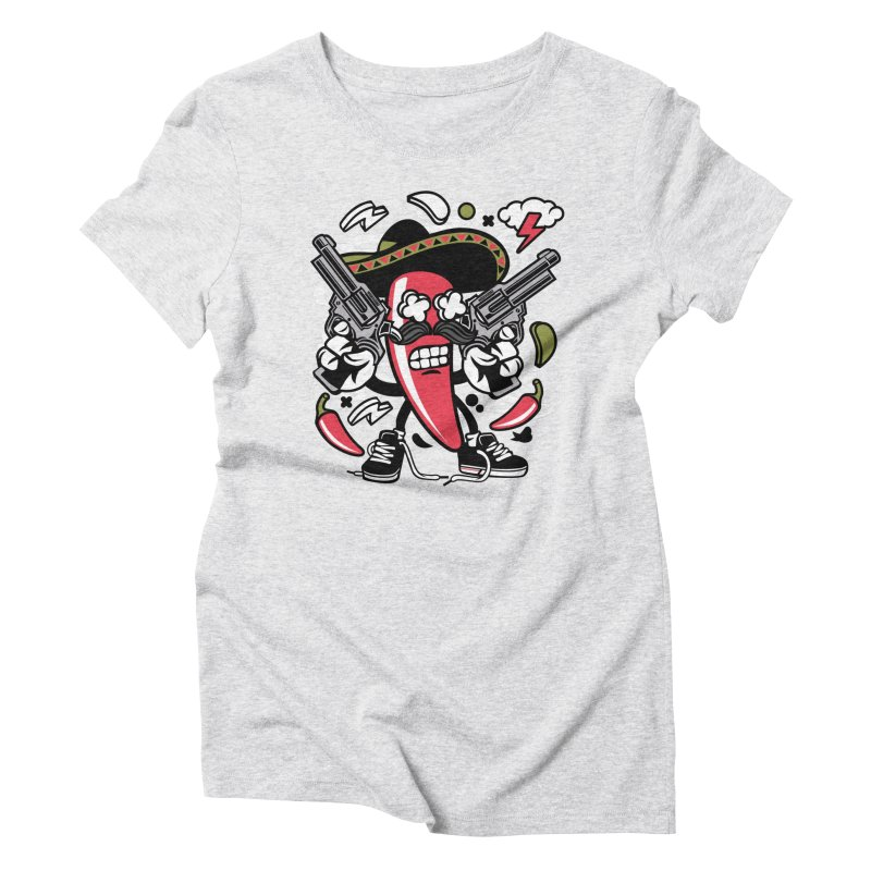 Hot and Spicy Women's T-Shirt by WackyToonz