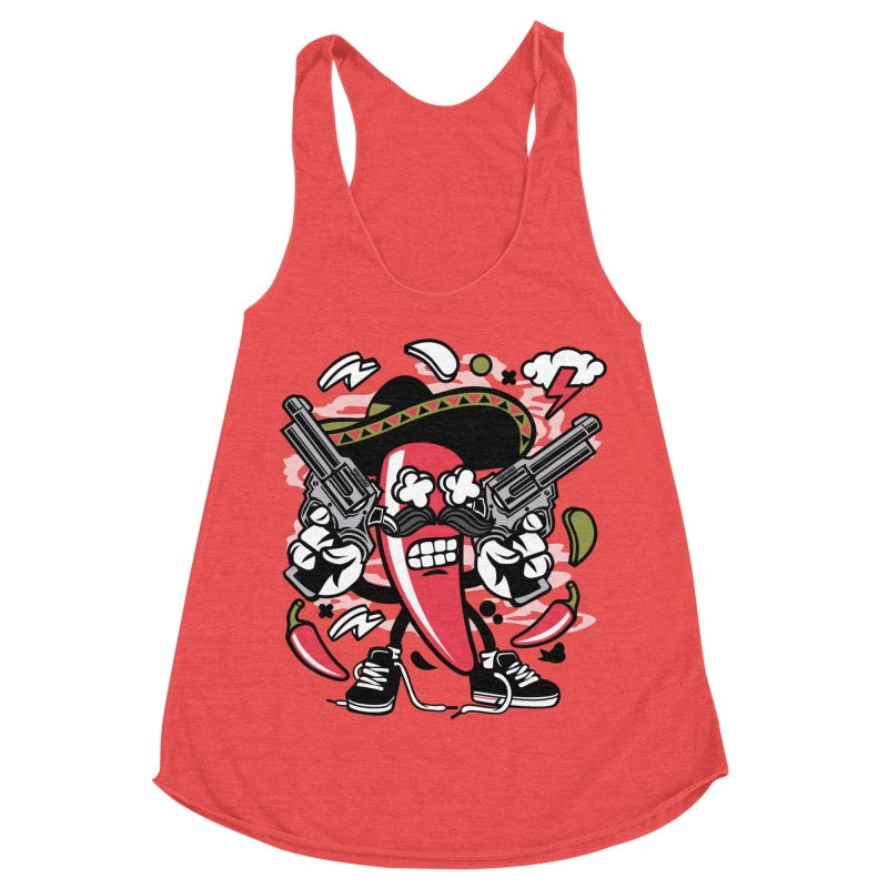 Hot and Spicy Women's Tank by WackyToonz