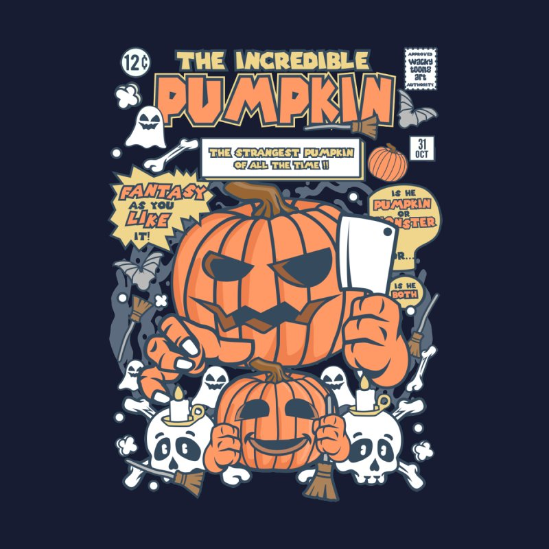 The Incredible Pumpkin Kids Baby T-Shirt by WackyToonz