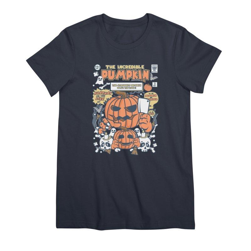 The Incredible Pumpkin Women's Premium T-Shirt by WackyToonz