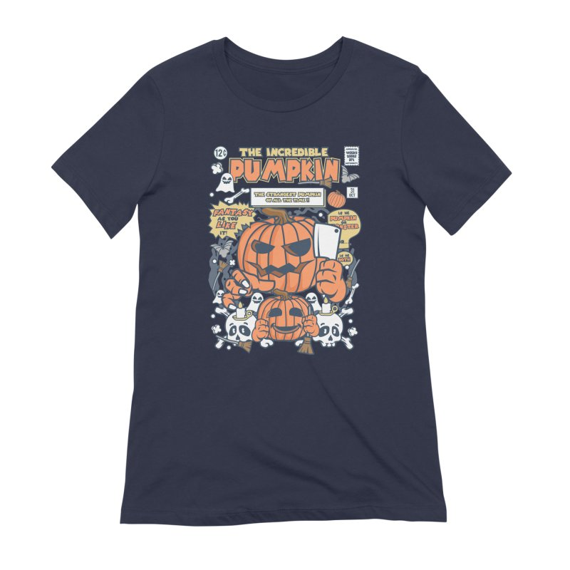The Incredible Pumpkin Women's Extra Soft T-Shirt by WackyToonz
