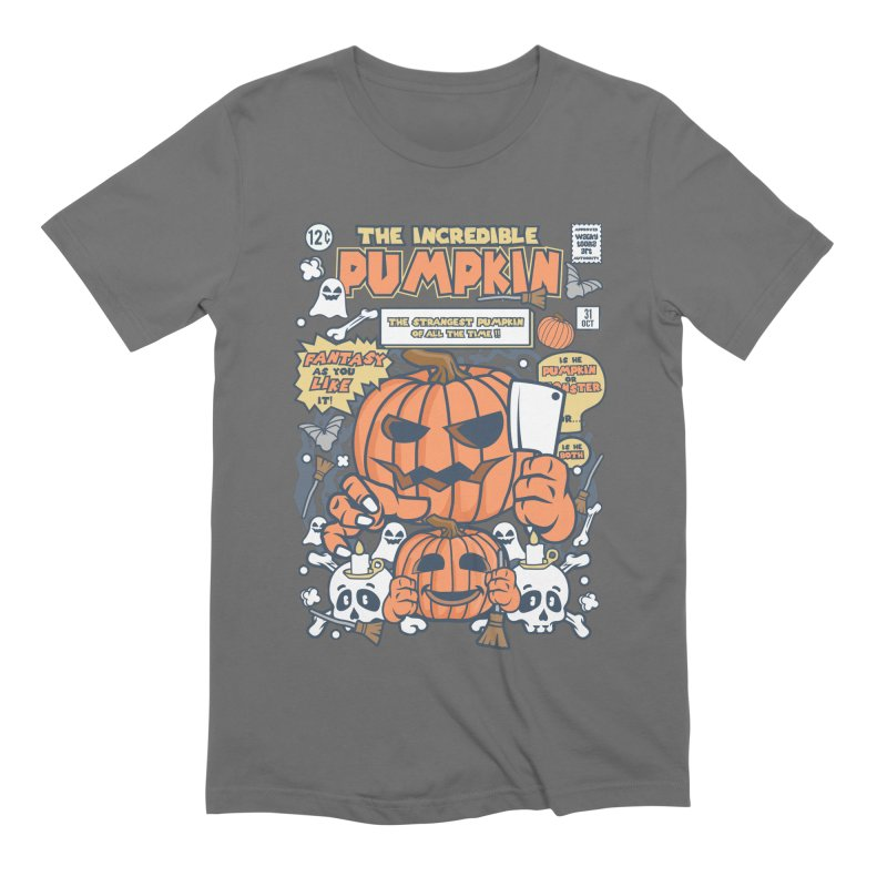 The Incredible Pumpkin Men's Extra Soft T-Shirt by WackyToonz