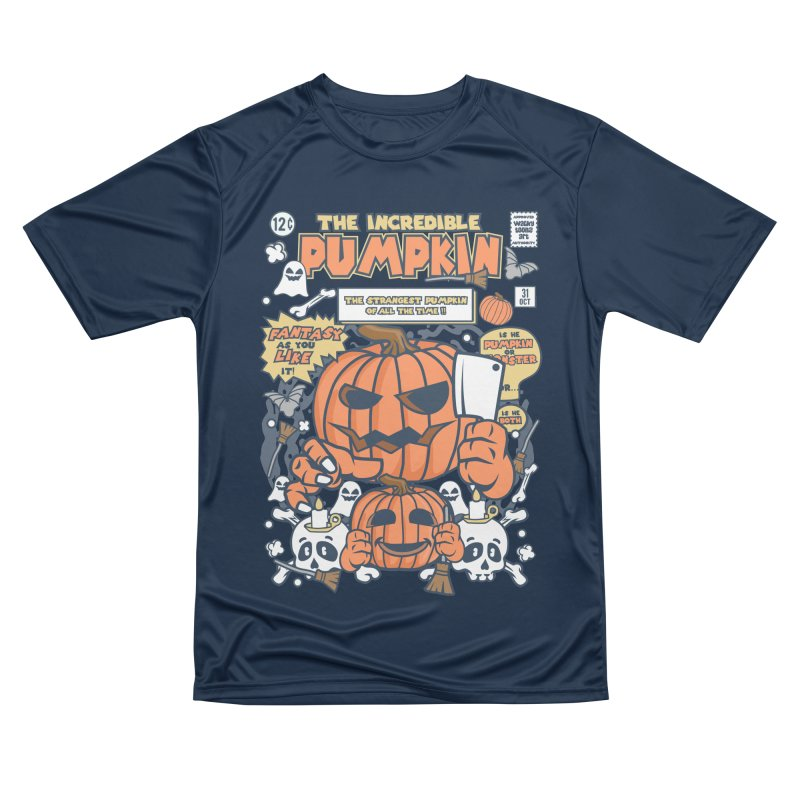 The Incredible Pumpkin Men's Performance T-Shirt by WackyToonz