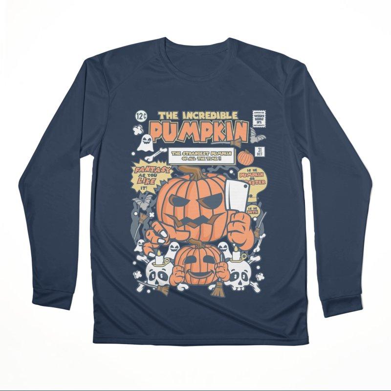The Incredible Pumpkin Women's Performance Unisex Longsleeve T-Shirt by WackyToonz