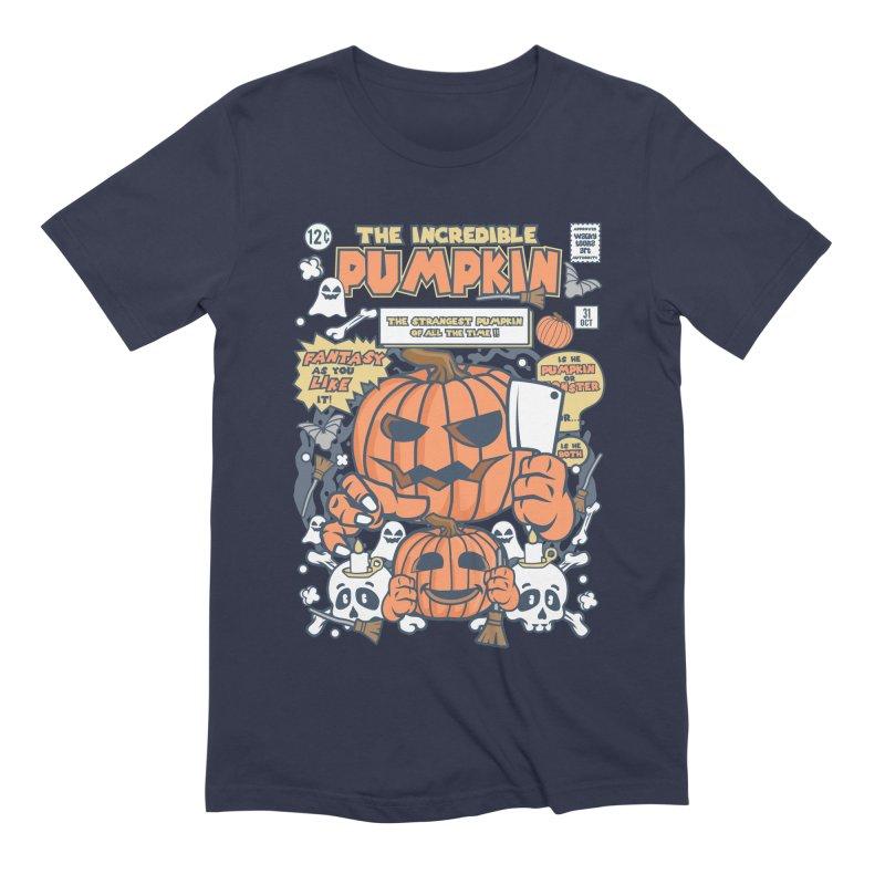 The Incredible Pumpkin Men's Extra Soft T-Shirt by WackyToonz