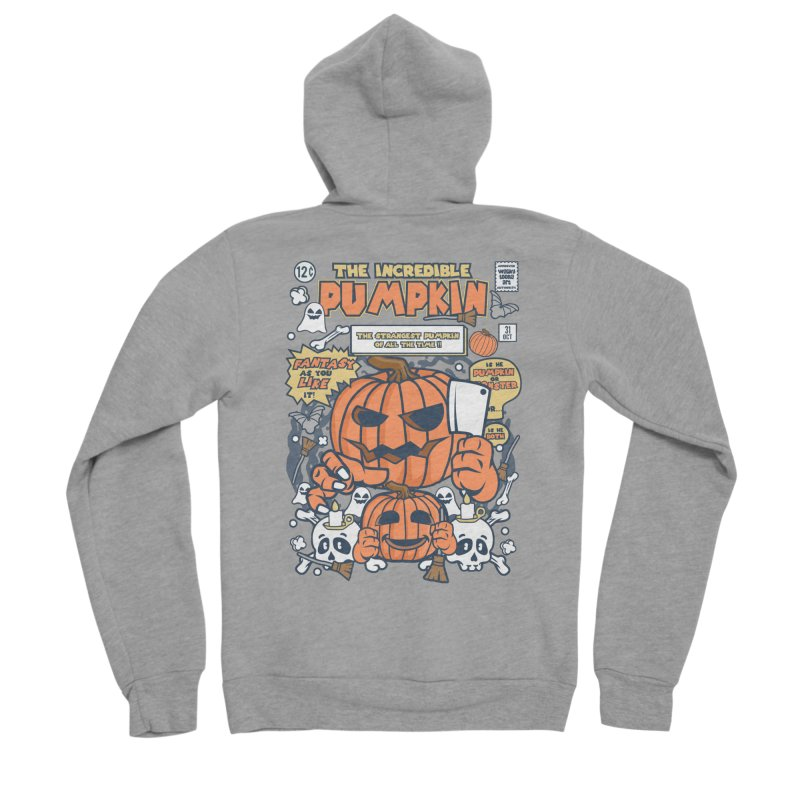 The Incredible Pumpkin Men's Sponge Fleece Zip-Up Hoody by WackyToonz