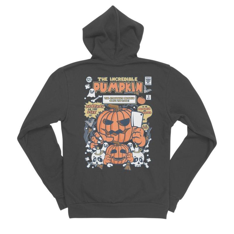 The Incredible Pumpkin Men's Sponge Fleece Zip-Up Hoody by WackyToonz