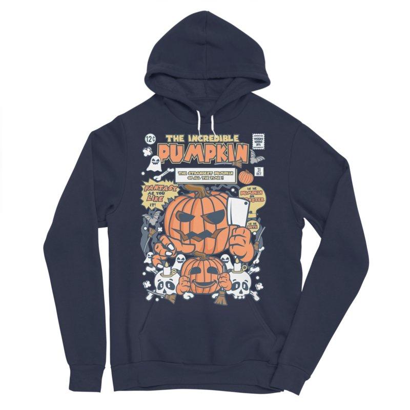 The Incredible Pumpkin Women's Sponge Fleece Pullover Hoody by WackyToonz