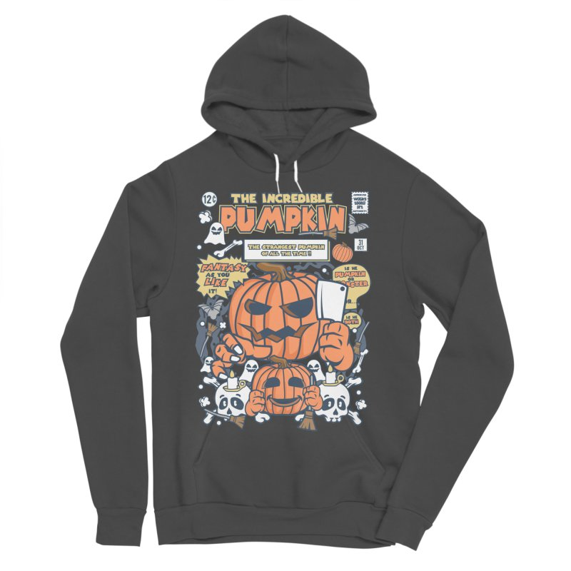 The Incredible Pumpkin Women's Sponge Fleece Pullover Hoody by WackyToonz
