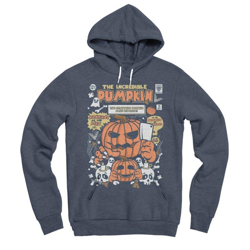 The Incredible Pumpkin Men's Sponge Fleece Pullover Hoody by WackyToonz