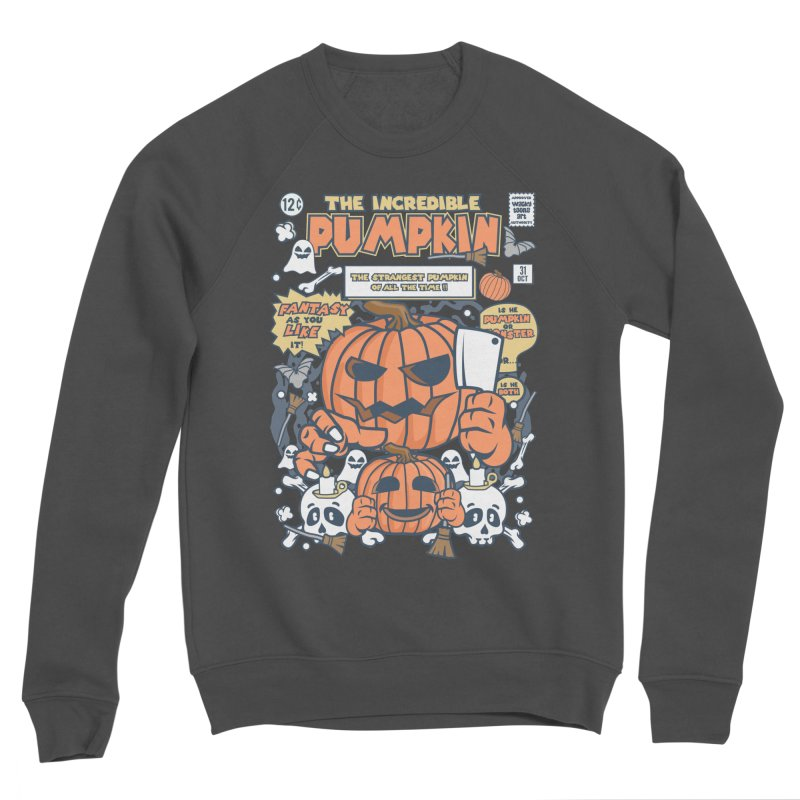 The Incredible Pumpkin Women's Sponge Fleece Sweatshirt by WackyToonz