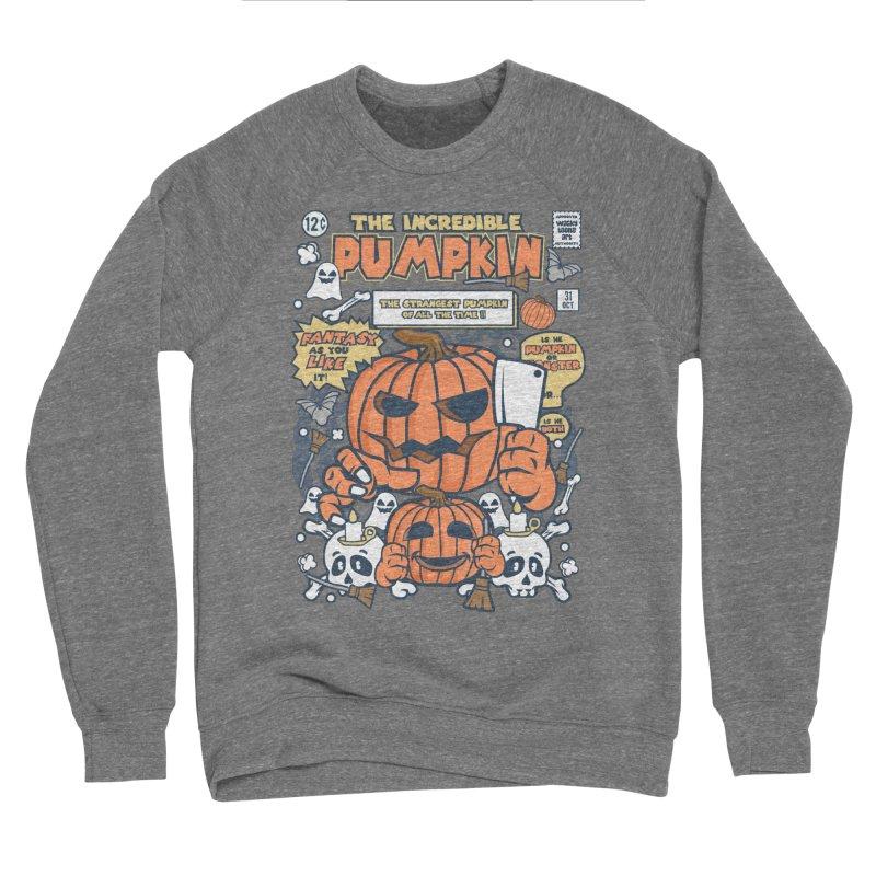 The Incredible Pumpkin Men's Sponge Fleece Sweatshirt by WackyToonz