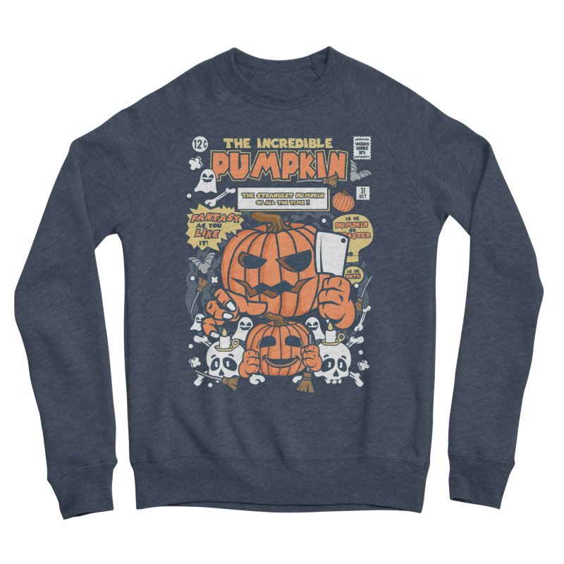 The Incredible Pumpkin Men's Sponge Fleece Sweatshirt by WackyToonz