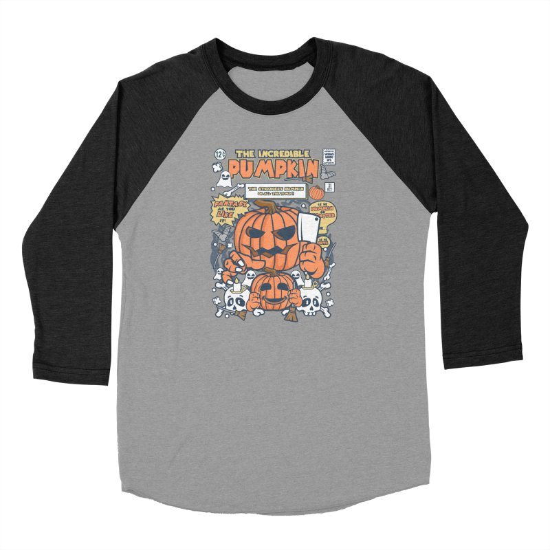 The Incredible Pumpkin Women's Baseball Triblend Longsleeve T-Shirt by WackyToonz