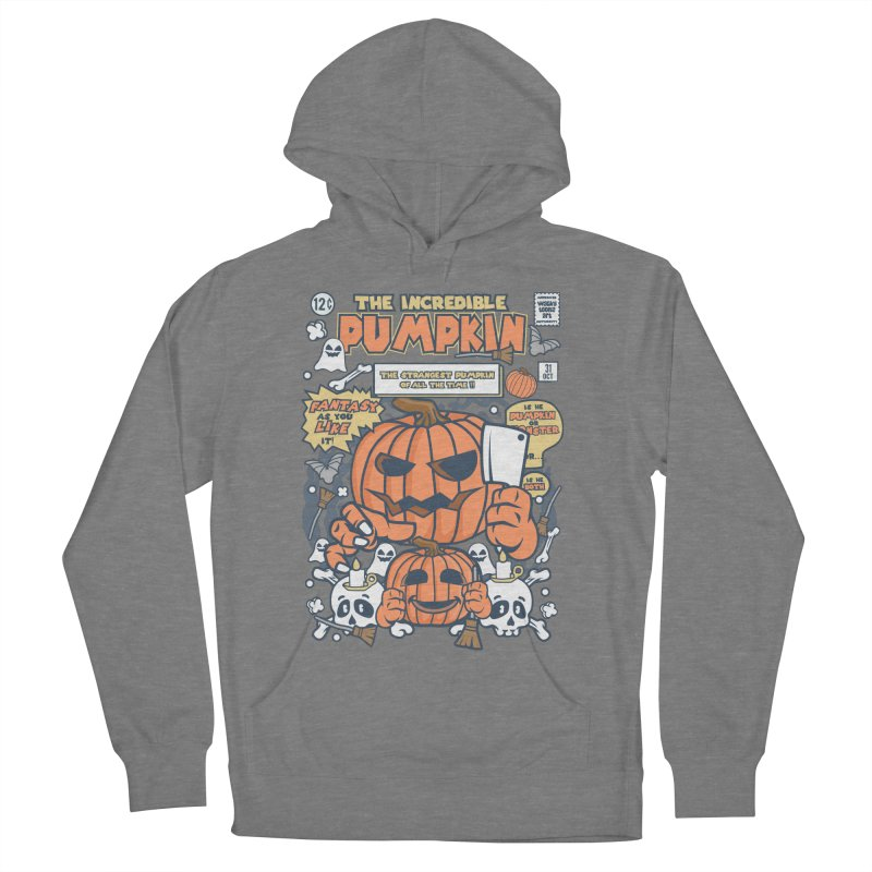 The Incredible Pumpkin Women's French Terry Pullover Hoody by WackyToonz