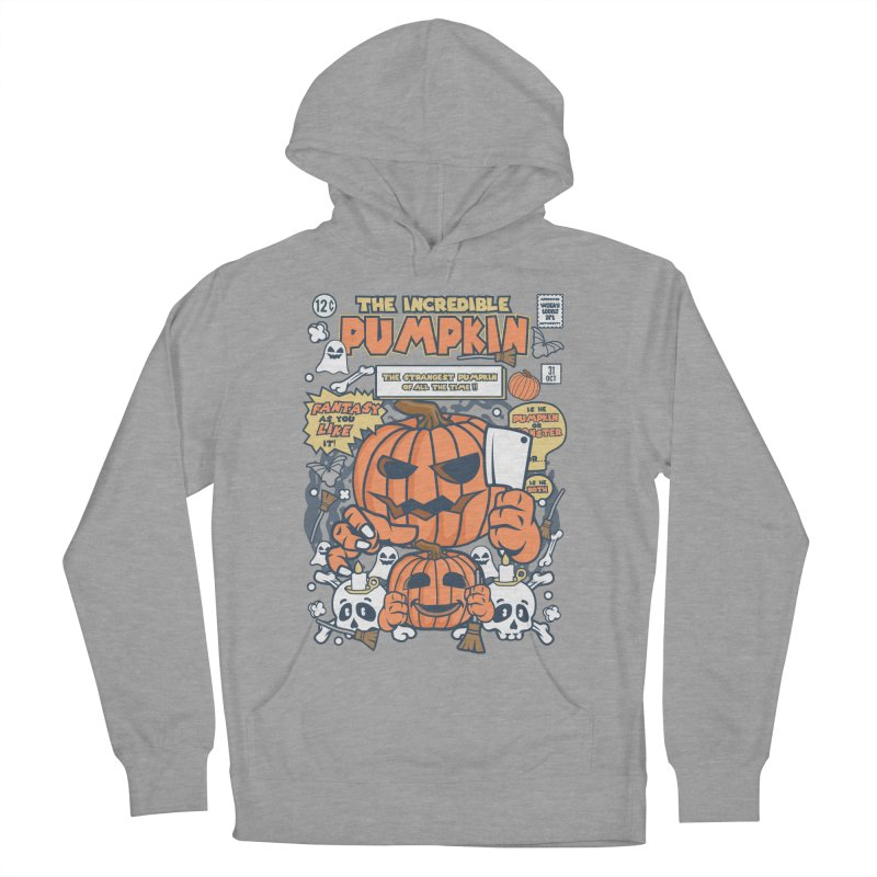 The Incredible Pumpkin Men's French Terry Pullover Hoody by WackyToonz
