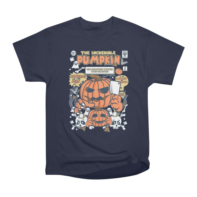 The Incredible Pumpkin Women's Heavyweight Unisex T-Shirt by WackyToonz
