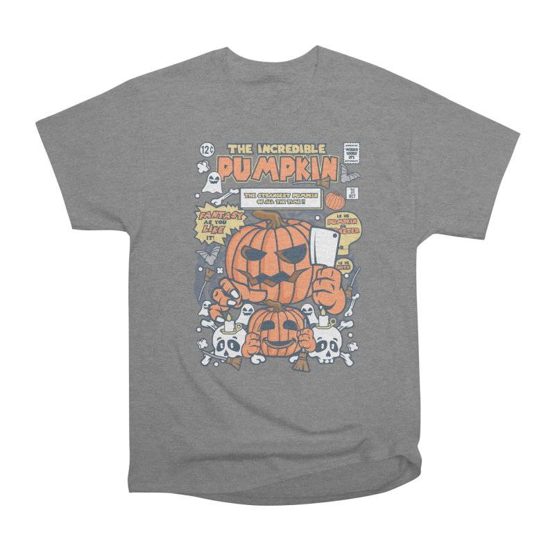 The Incredible Pumpkin Men's Heavyweight T-Shirt by WackyToonz