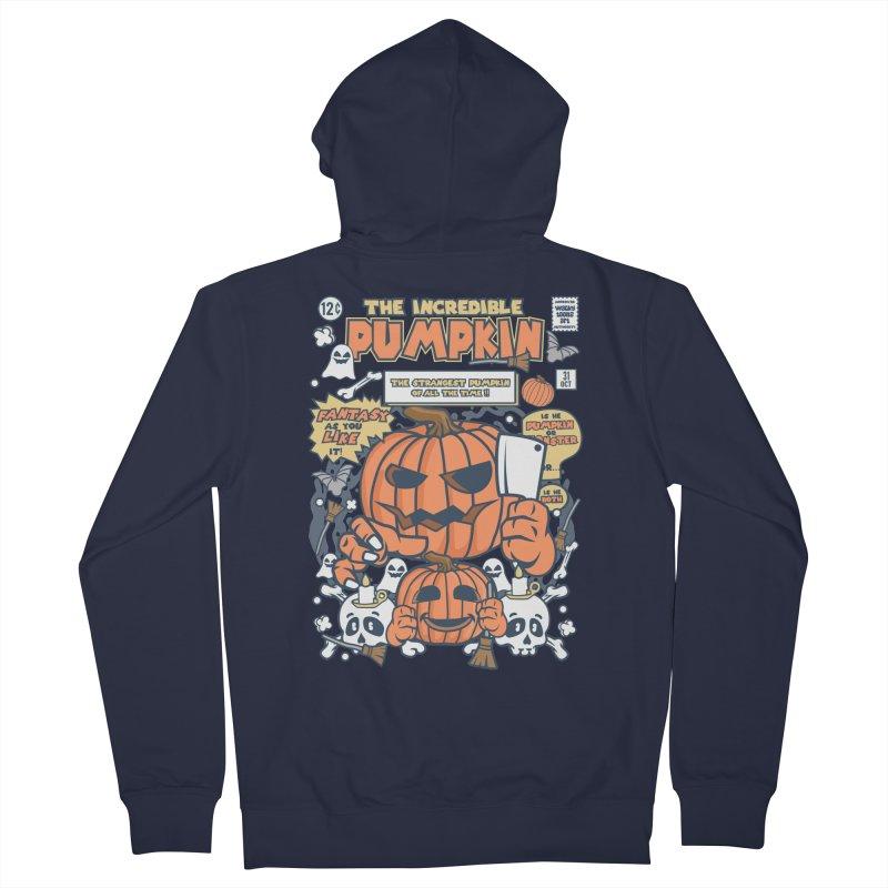 The Incredible Pumpkin Women's French Terry Zip-Up Hoody by WackyToonz