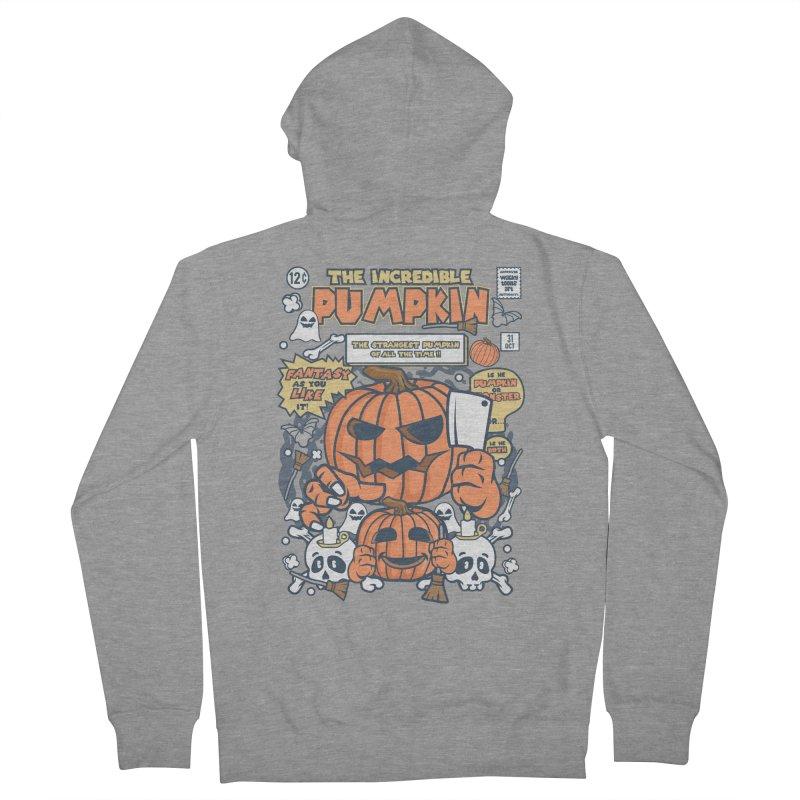 The Incredible Pumpkin Men's Zip-Up Hoody by WackyToonz