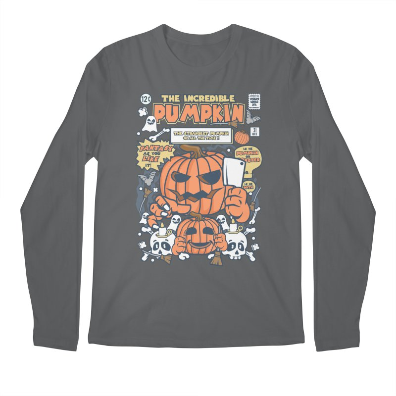 The Incredible Pumpkin Men's Regular Longsleeve T-Shirt by WackyToonz