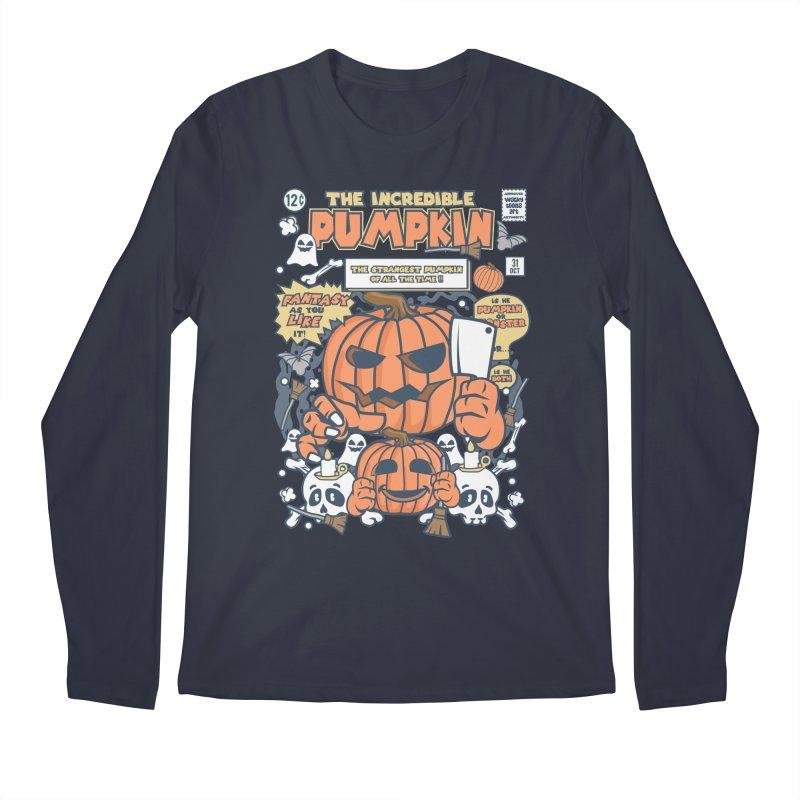The Incredible Pumpkin Men's Regular Longsleeve T-Shirt by WackyToonz