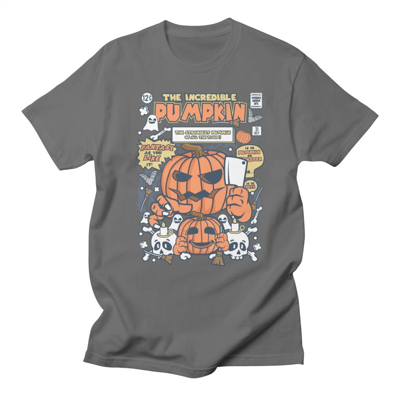 The Incredible Pumpkin Men's Regular T-Shirt by WackyToonz