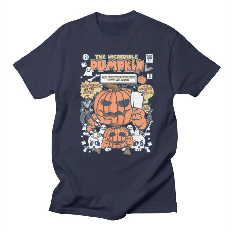 The Incredible Pumpkin Women's Regular Unisex T-Shirt by WackyToonz